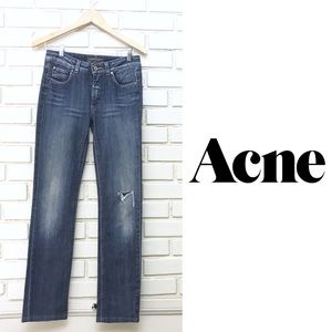 Acne Jeans - Hex Pur Straight leg Distressed 28x31